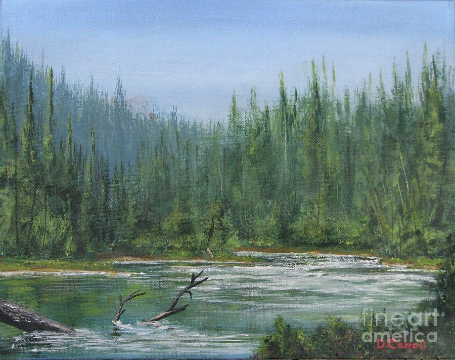 Landscape Painting - Confluence at First Light by Dana Carroll