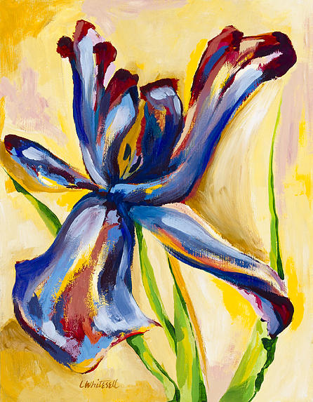 Iris Painting - Confrontation by Lynette K Waters-Whitesell