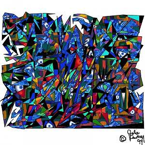 Abstract Digital Art - Confusion by Julie Carter