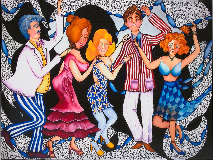Dance Painting - Conga Line by Arleen Barton
