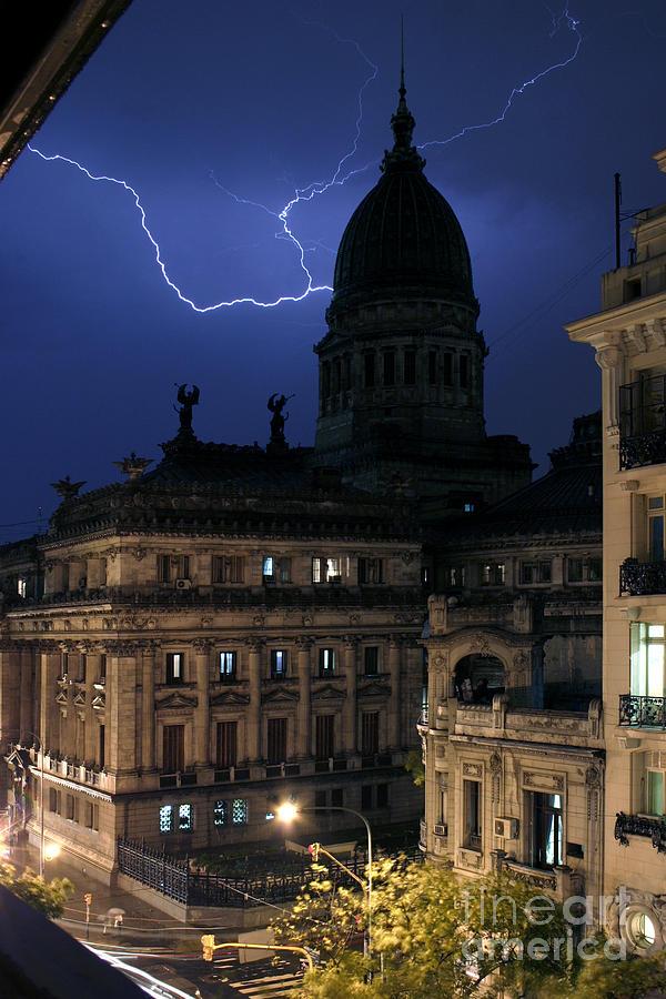 Landscape Photograph - Congeso Lightning 2 by Balanced Art