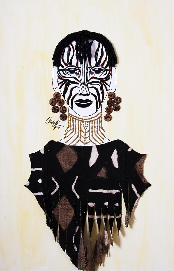 Congo Painting - Congo Lady by Carla J Lawson