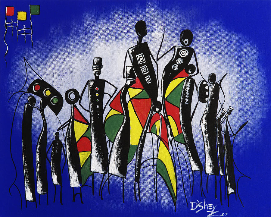 Africa Painting - Congregation Of Minds by Don MacCarthy