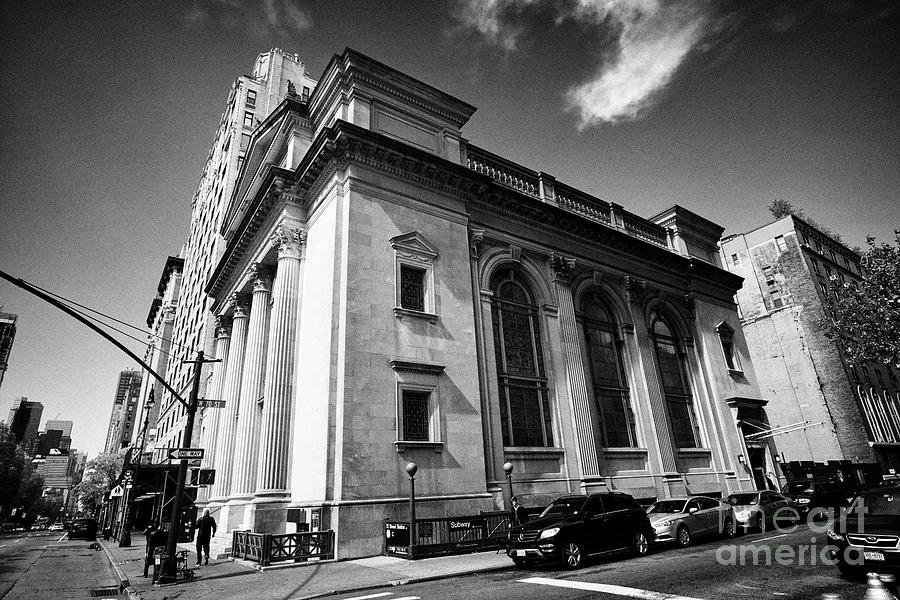 Congregation Photograph - Congregation Shearith Israel spanish and portuguese synagogue central park west upper west side New  by Joe Fox