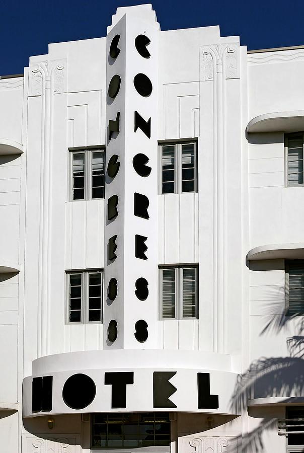 Art Deco District Miami Beach Photograph - Congress Hotel. Miami. Fl. Usa by Juan Carlos Ferro Duque