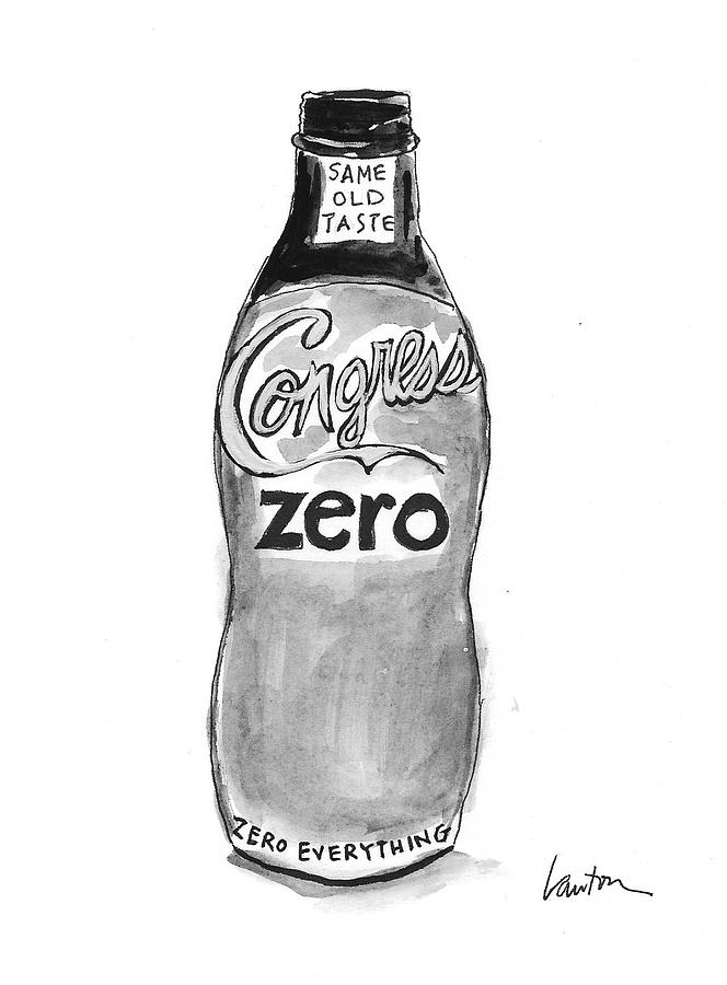 Congress Zero Drawing by Mary Lawton