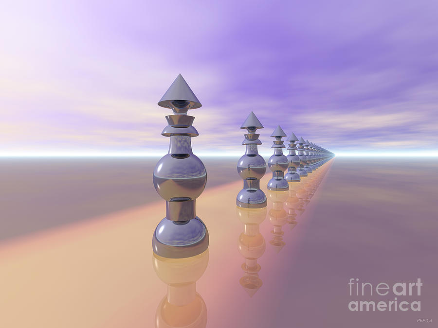 Cones Digital Art - Conical Geometric Progression by Phil Perkins