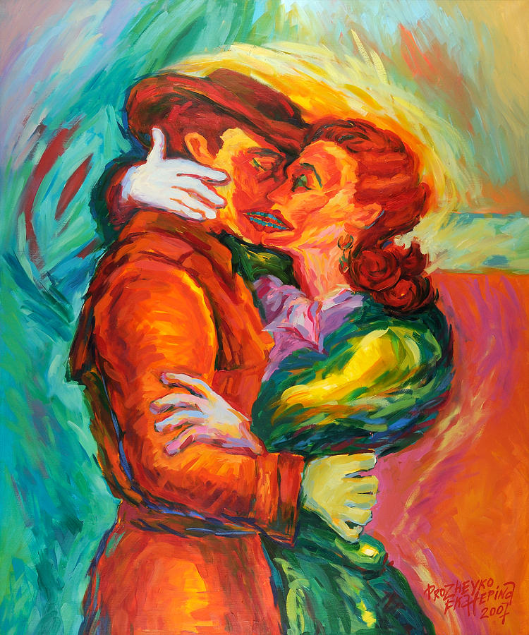 Figurative Painting - Conjoined by Ekaterina  Prozheyko