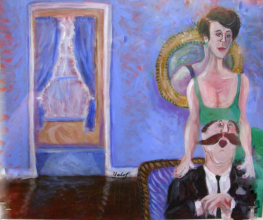 Love Painting - Conjugal Pose by Barbara Yalof