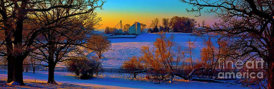 Conley Photograph - Conley Road Farm Winter  by Tom Jelen