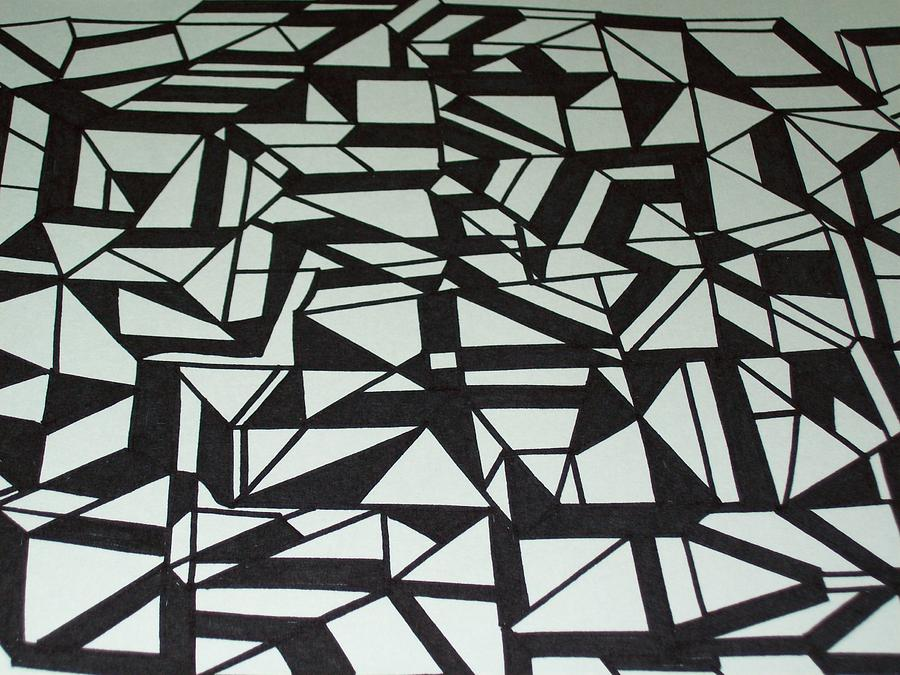 Angles Drawing - Connected by Lin Lenzi Masters
