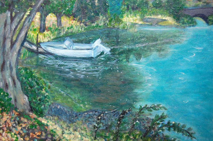 Connecticut Painting - Connecticut River by Carolyn Donnell