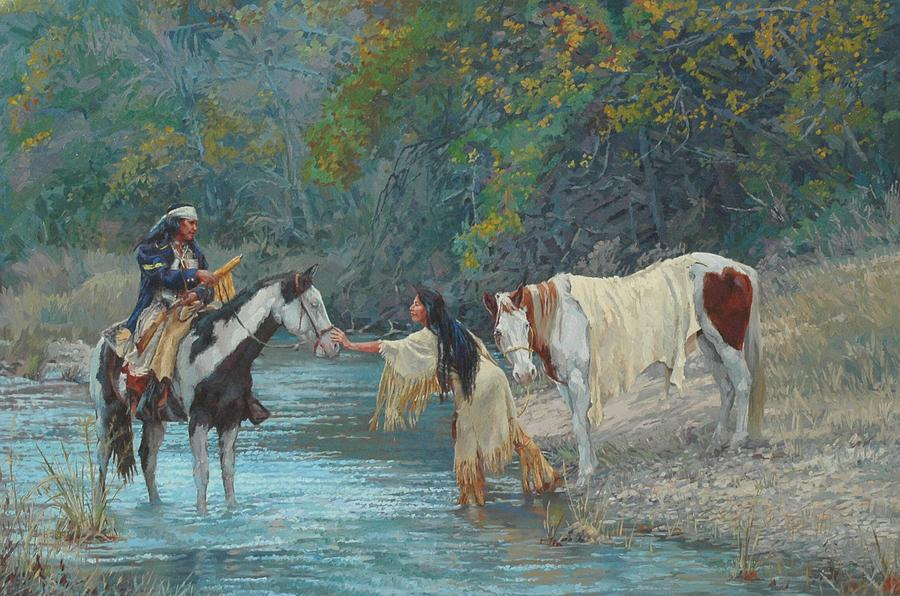 West Painting - Connection by Jim Clements