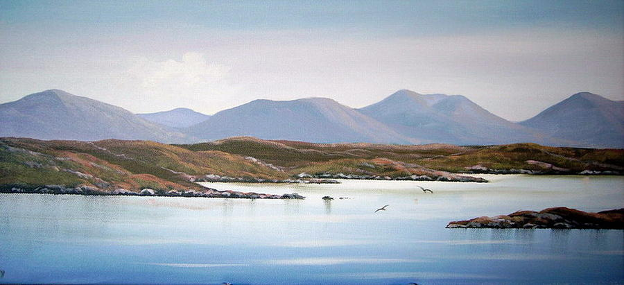 Connemara View Painting by Cathal O malley