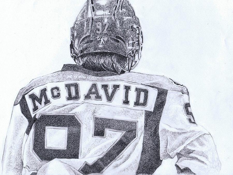 Connor Mcdavid Drawing by Paul Smutylo