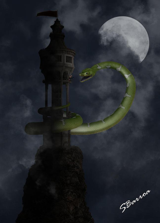 Snake Digital Art - Conqueror by Barroa Artworks