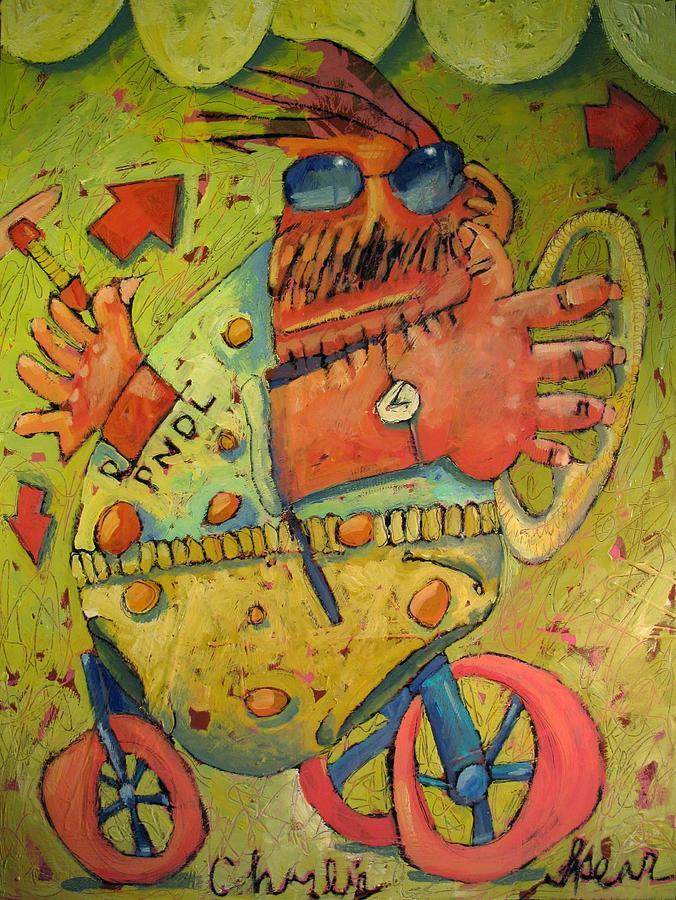 Perambulator Painting - Conscientious Perambulator by Charlie Spear