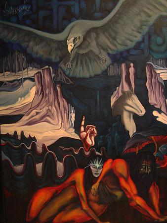 Surreal Painting - Conscious Fields by Ibrahim Savas Pekdemir