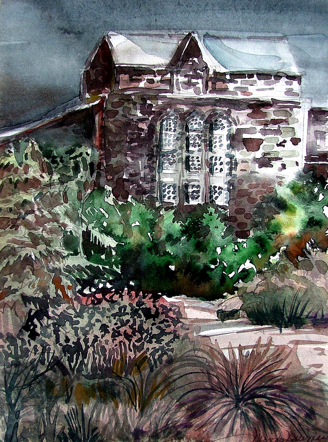 Edinburgh Painting - Conservatory Gardens In Scotland by Mindy Newman