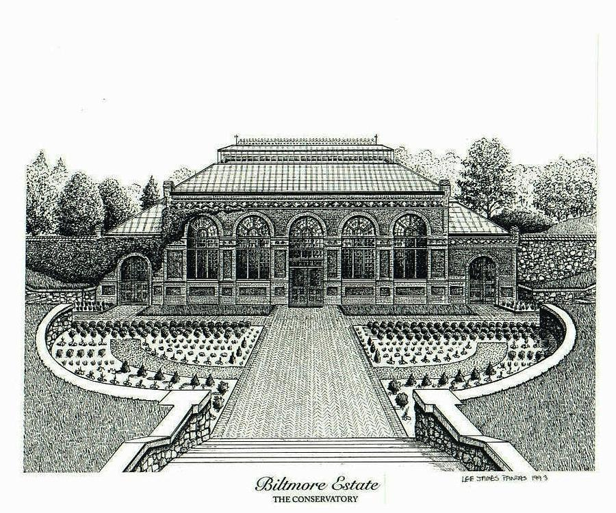 Biltmore Estate Painting - Conservatory on Biltmore Estate by Lee Pantas
