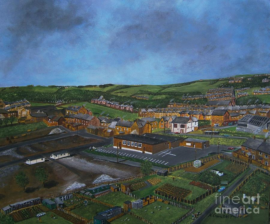 Consett, Blackhill, County Durham Painting by Neal Crossan