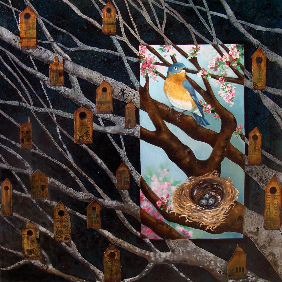 Birds Painting - Consider by Teresa Carter