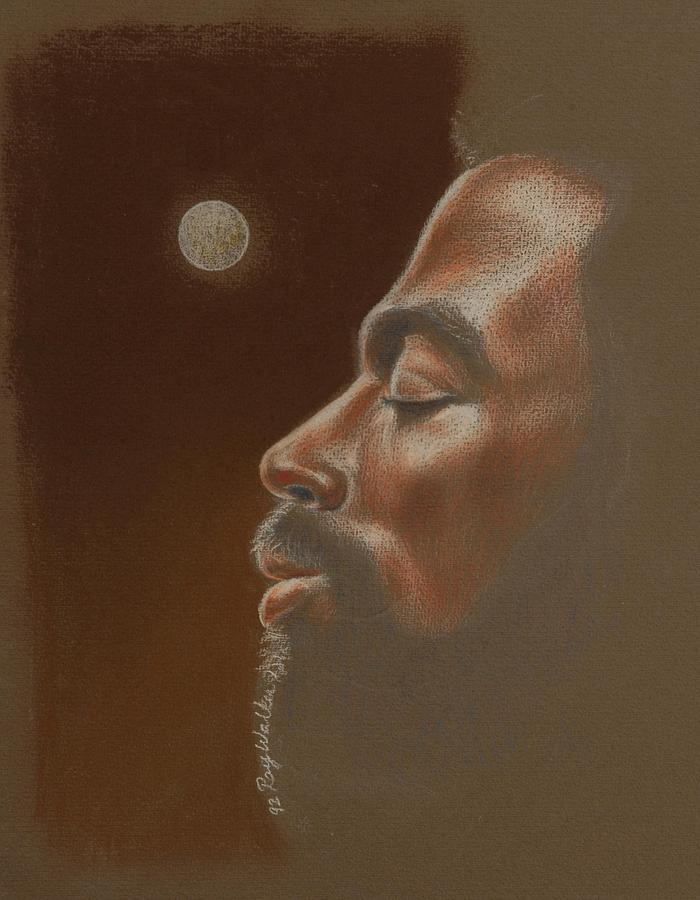 African American Paintings Pastel - Consider The Moon by Raymond Walker
