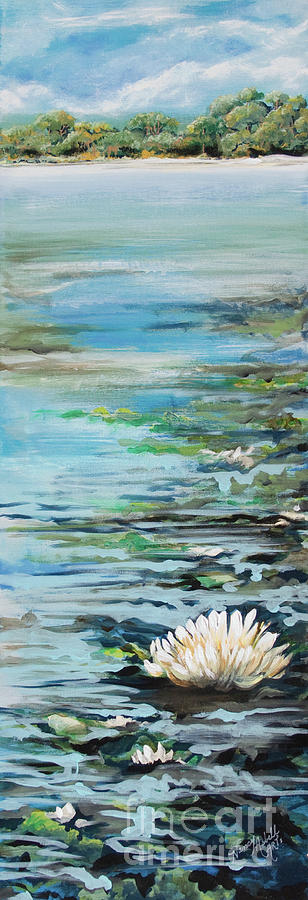 Lily Pond Painting - Considering Lily by Michele Hollister - for Nancy Asbell