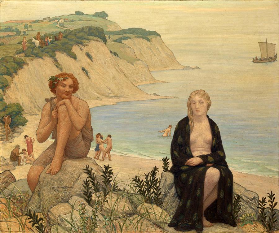 Greek Mythology Painting - Consolation Of Ariadne by Bryson Burroughs