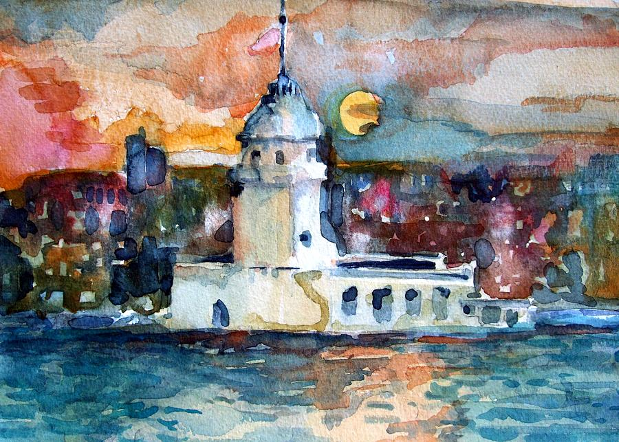 Constantinople Painting - Constantinople Turkey by Mindy Newman