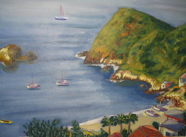 Lanscape Painting - Constanza Bay by William Kairala