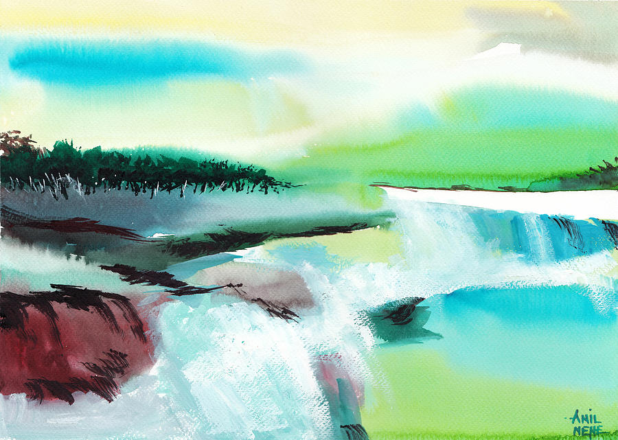 Nature Painting - Constructing Reality 1 by Anil Nene