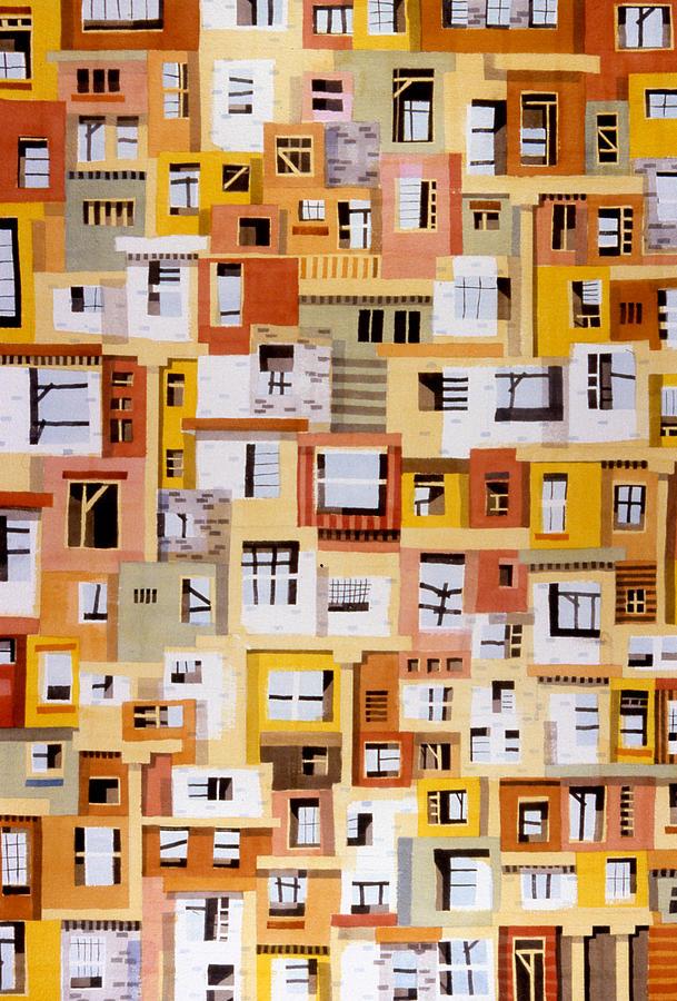 Urban Painting - Construction 34 by Ashley Lathe