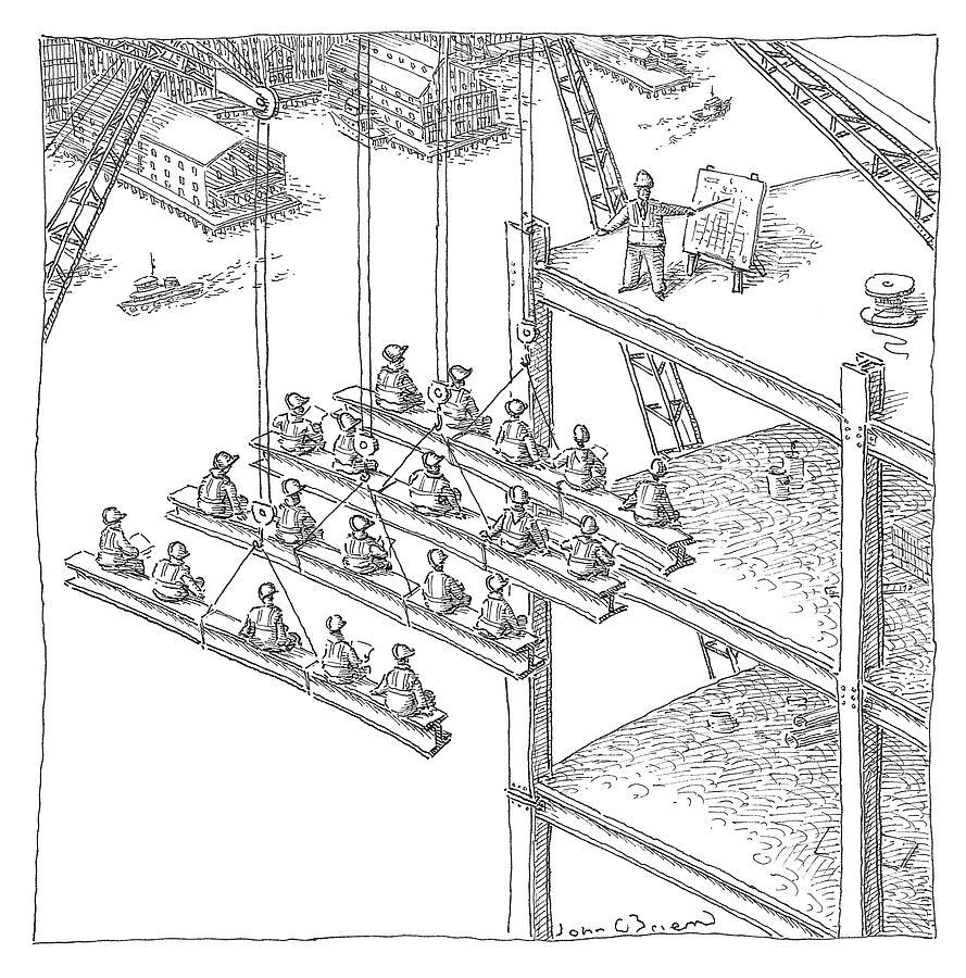 Construction Class Drawing by John OBrien