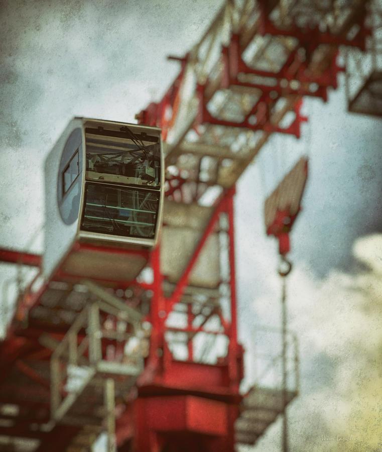 Construction Crane Photograph - Construction Crane by Wim Lanclus