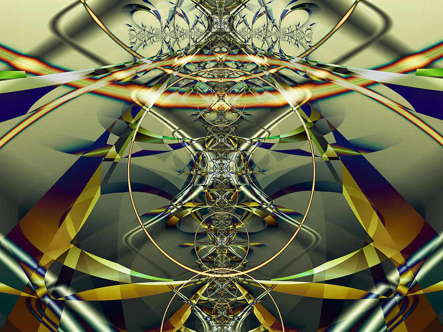 Fractal Digital Art - Construction Rings by Frederic Durville