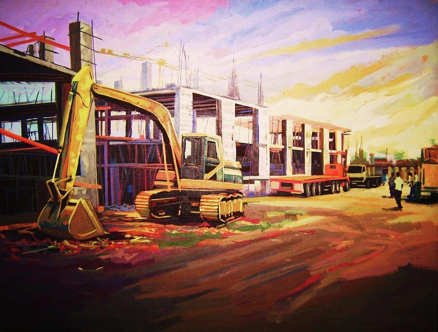 Construction Site Painting By Aderonke Adetunji