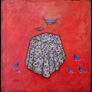 Birds Painting - Construyendo Un Sueno by Mauricio Toussaint