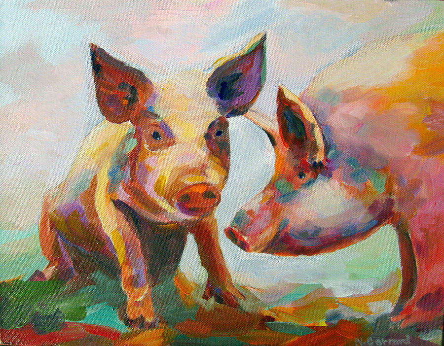 Pigs Painting - Consultation by Naomi Gerrard