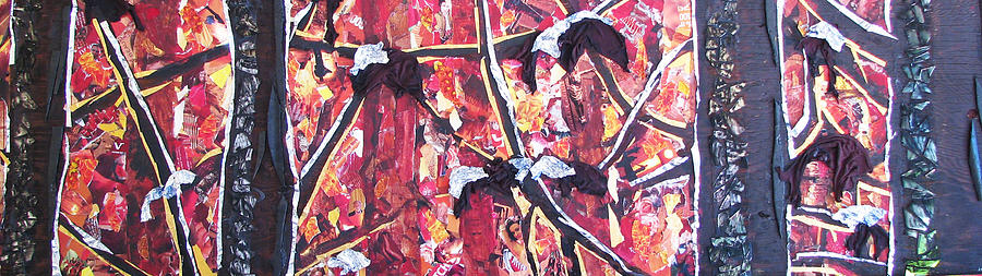 Forest Mixed Media - Consumer Forest Fire by Alicia  LaRue