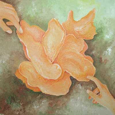 Contact through the Beauty Painting by Karina Ishkhanova