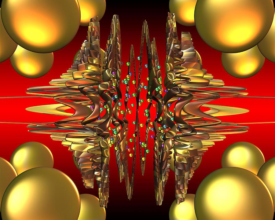 Design Digital Art - Containment Field-excaliber by Mark W Ballard