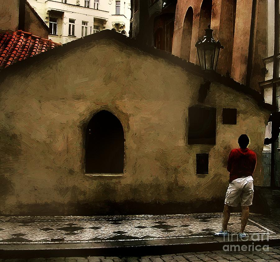 Antiquities Painting - Contemplating Antiquity by RC DeWinter