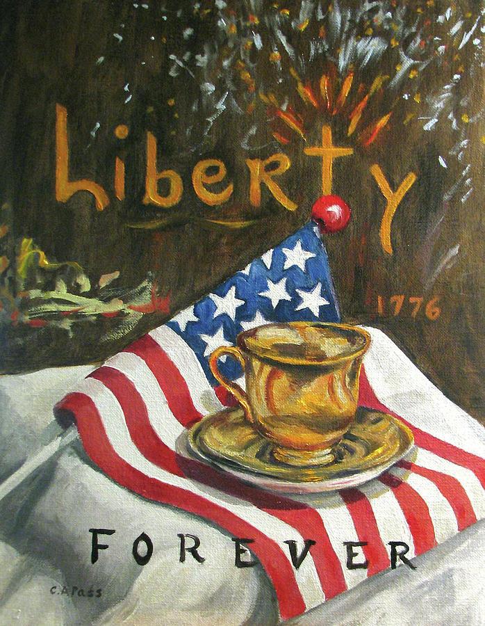 Liberty Poster Painting - Contemplating Liberty by Cheryl Pass