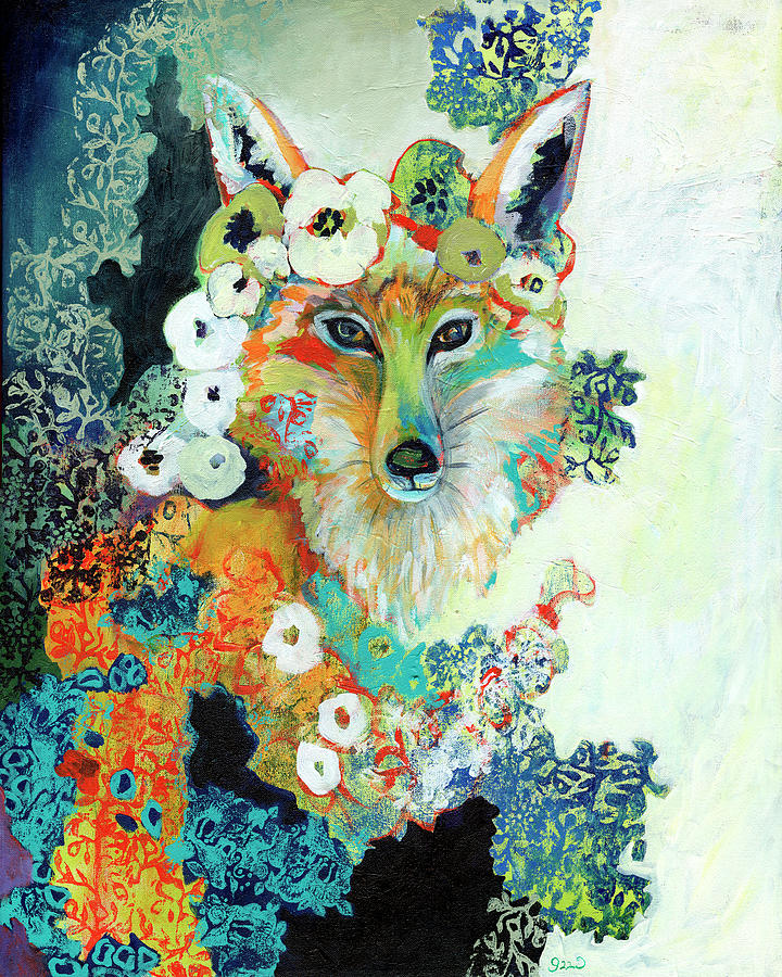Fox Painting - Contemplating Pearls by Jennifer Lommers