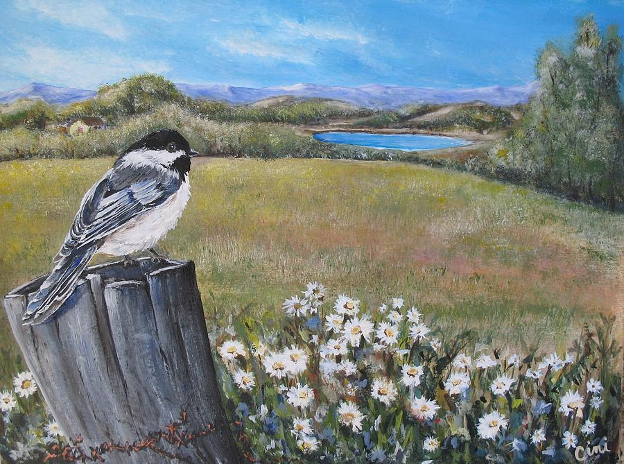 Rural Painting - Contemplating The Journey by Lisa Cini
