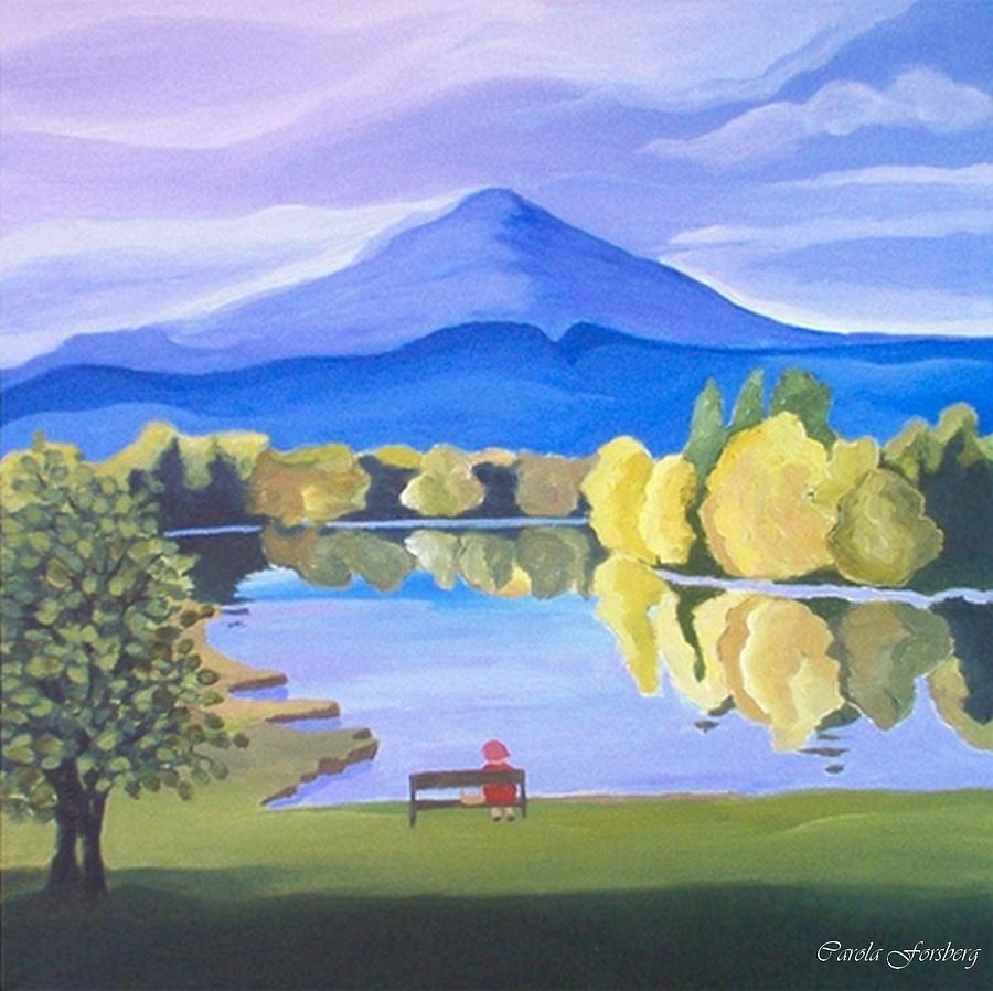 Trees Painting - Contemplation  by Carola Ann-Margret Forsberg