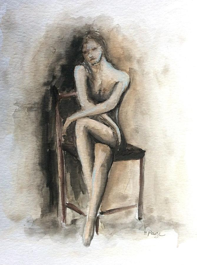 Female Painting - Contemplation by Emily Page