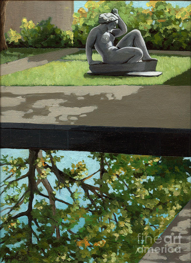 Landscape Painting Painting - Contemplation by Linda Apple