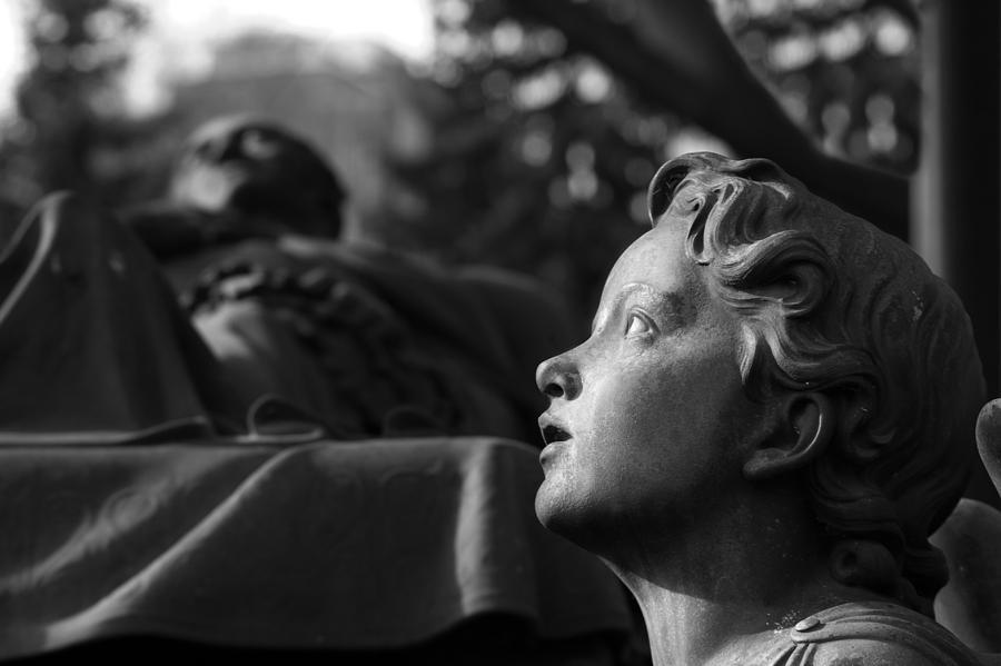 Angel Photograph - Contemplation by Marc Huebner